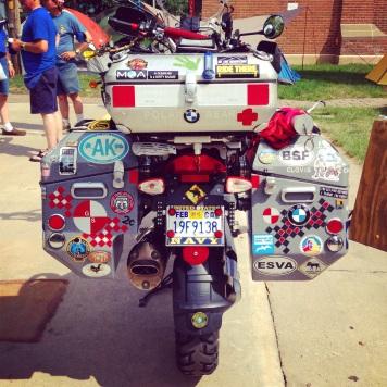 Adventure travelers abound at an International BMW Rally