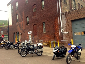 The Aerostitch Factory in Duluth, MN is always worth a stop for any motorcyclist.