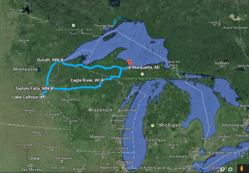 787 miles and three states.