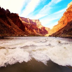 The river is the lifeblood of the canyon and it is beautiful and powerful all at the same time.