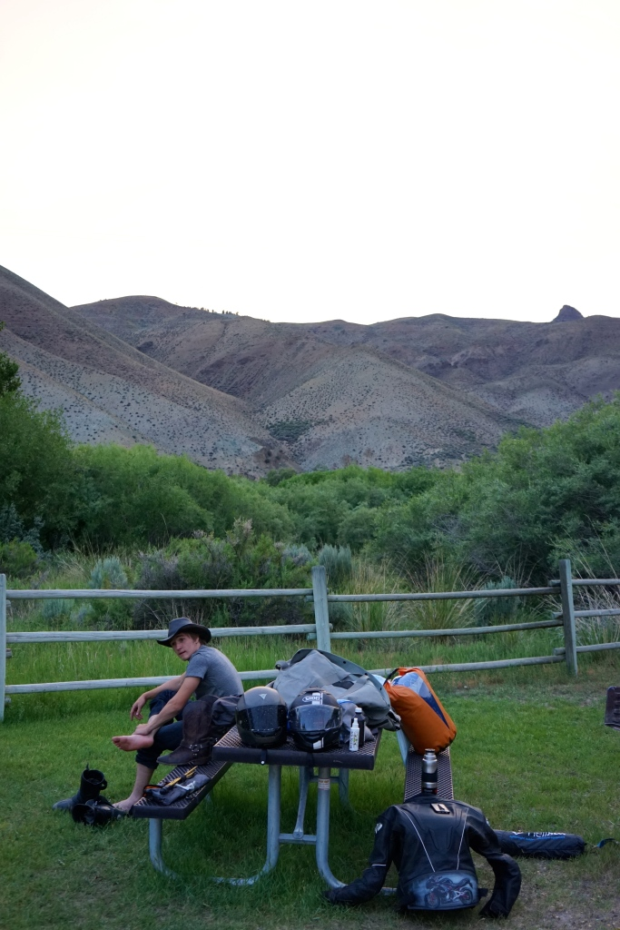 Our campsite along the Salmon River was quiet, inexpensive, and beyond beautiful.
